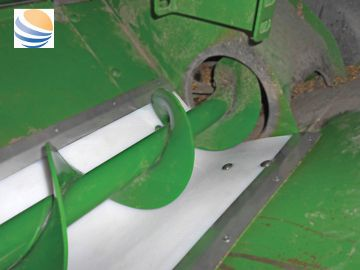 "White poly universal grain tank auger trough liner kit for sale at Combine World. Fits all combines. 10' long x 16"" wide. Comes with hardware."