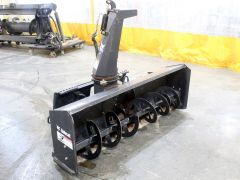 """Bobcat SB200 X72 snow blower for sale. 72"""" wide, 24"""" high, hyd chute. Fits Bobcats w/quick attach & new-style couplers. V. good cond."""