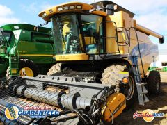 Good used Challenger 670 combine for sale at Combine World in Saskatchewan. 1703/2232 hrs, lateral tilt, FieldStar Y&M, AHHC, reel F/A, nice cond. Headers & pickups available. (LHS side-profile. Main image.)