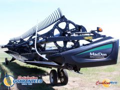 Good used 2016 MacDon FD75-D 45' flex draper header for sale at Combine World in Saskatoon. (Coming soon.)