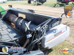 AGCO/Gleaner 4200 15' pickup header for sale. Good auger, floor decent, for AGCO/MF/Challenger. single pt, 1000 PTO, crop catcher.
