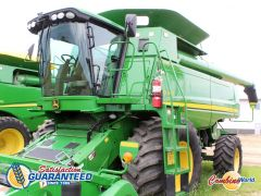 John Deere 9870 STS combine for sale at Combine World. 2065/3266 hrs, 493 HP, AHHC, Command Centre, Y&M, F/A, AHHC. Headers & pickups available.