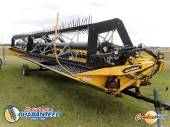 New Holland 94C 36' rigid draper header for sale. Pea auger, transport, UII pickup reel.