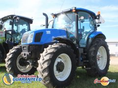 New Holland T6.155 tractor for sale.  2680 hrs, 116 HP (95 PTO HP), p/s, 16 fwd & 16 rev, 3PH, 3 hyds, diff lock, nice tractor.
