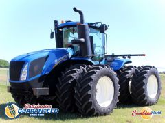 New Holland T9.435 4WD tractor for sale. 4600 hrs, 370 HP, p/s, GPS-ready, Intelliview IV, 6 hyd, duals, v. good tires, exc cond.
