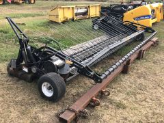 Rake-Up 14' pickup for sale. New draper belts & washers,  bars & teeth nice, dbl hyd wg, AHHC, canvas speed. Overall good cond.