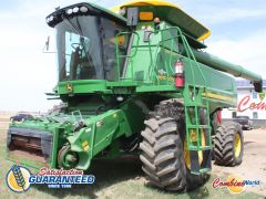 John Deere9870 STS combine for sale. 2350/3206 hrs, GPS-ready, Command Ctr, Y&M, hopper ext'n w/cover, 26' aug, very nice.