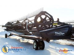 MacDon FD75-D 40' header for sale. Flex draper, pea aug, fact. transport. Fits Lexion 500/700 series; JD, AGCO, CNH avail.