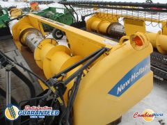 New Holland 76C 16' pickup header for sale. Nice auger & floor, field lights, PTO, single pt, for CR/CX. Good cond.