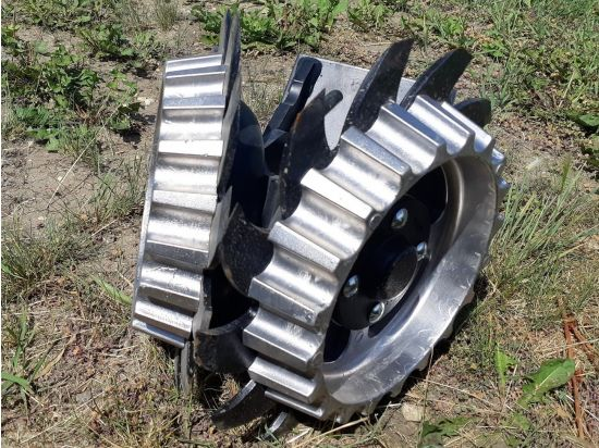 """Yettershort narrowrowcleaners/residue managers for sale.  Fits Case IH15"""" spacingnarrow row planters. OEM part # 2967-014-ST-FW."""