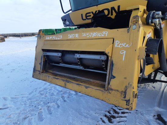 Good used lateral tilt system off a Lexion 580R combine salvage part for sale at Combine World in Saskatchewan.  Complete kit to install lateral tilt onto Lexion 500-series combines. Call for pricing and availability. (Front LHS corner 3/4 view of the com