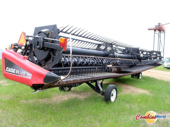 Case IH 2162 40' flex draper header for sale. Pea auger, fact transp, hyd tilt, AHHC, SKD, overall good cond. For CNH; Lexion, AGCO, JD avail.