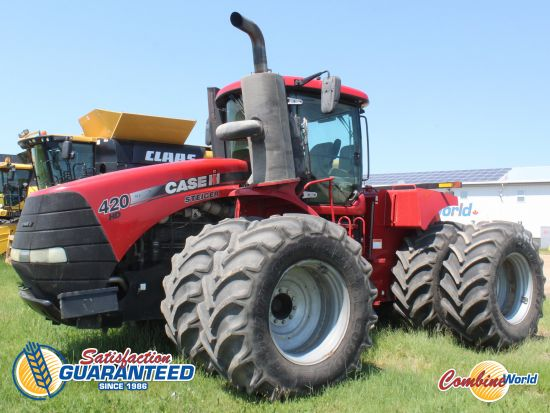 Case IH Steiger 420 4WD tractorfor sale. 6872 hrs, 420 HP, powershift, 4 hyds, front & rear duals, very nice cab, nice tractor.