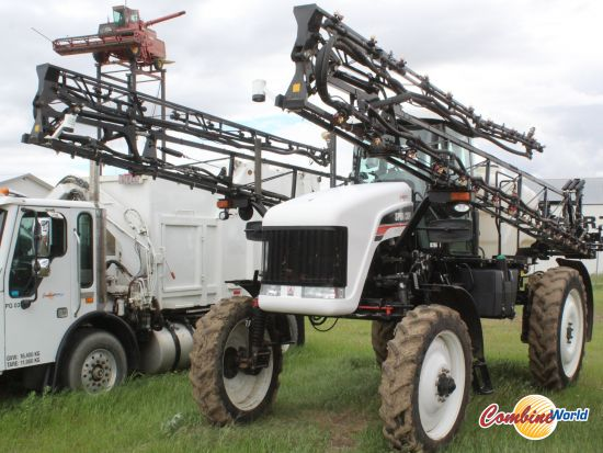 2008 Spra-Coupe 7655 90' high-clearance self-propelled sprayer for sale. 1829 hrs, 90', 725 gal, GPS, Autoboom, good tires, nice cond.