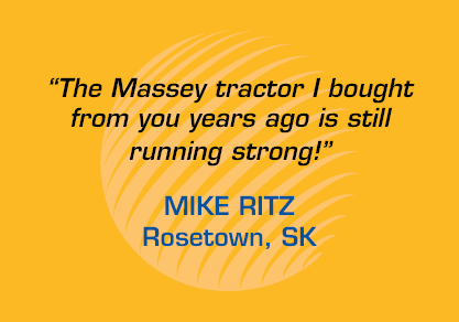 "Testimonial - ""The Massey tractor I bought from you years ago is still running strong!"""